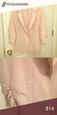 Blazer Off white blazer. One button. Charlotte Russe Jackets & Coats Blazers