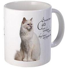 Birman Cat Mug Mugs Plum blossom and Peony Custom Custom Ceramic White Coffee Mug *** See this great image  : Cat mug