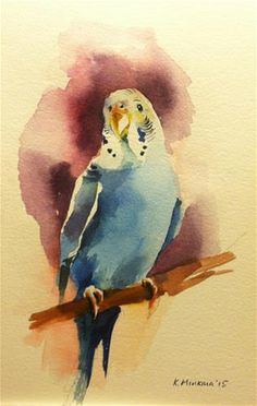 "Daily Paintworks - ""budgie15"" - Original Fine Art for Sale - © Katya Minkina"