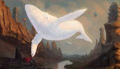 White whale, Nicola Angius on ArtStation at https://www.artstation.com/artwork/q0v6D