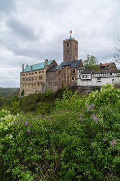 Wartburg Castle originally built in the Middle Ages, situated on a 410 metres precipice to the southwest of, and overlooking the town of Eisenach, in the state of Thuringia, Germany.