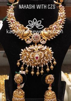 Saved by radha reddy garisa #simplebridaljewelryinspiration Gold Wedding Jewelry, Gold Jewelry Simple, Bridal Jewelry, Gold Jewellery Design, Necklace Designs, Fashion Jewelry, India Jewelry, Collar Necklace, Gold Necklace