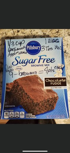 Sugar Free Baking, Sugar Free Treats, Sugar Free Desserts, Sugar Free Recipes, Ww Recipes, Weight Watchers Brownies, Weight Watchers Meal Plans, Weight Watcher Dinners, Weight Watchers Desserts
