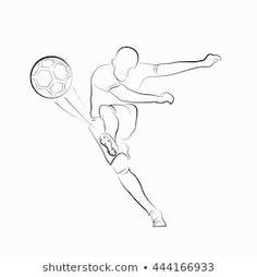 Die 8 Besten Bilder Von Fussballspieler Zeichnung In 2019
