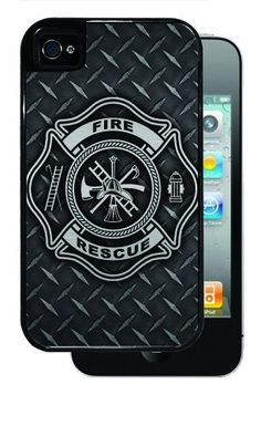 Fire Rescue Symbol Diamond Plate BRUSHED ALUMINUM - Black iPhone 4, 4s Dual Protective Case by Inked Cases, http://www.amazon.com/dp/B00FMDWWCE/ref=cm_sw_r_pi_dp_AAEvsb15768XJ