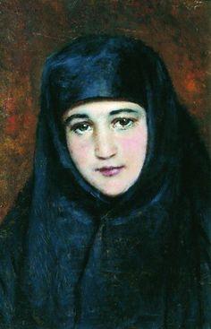 "Маковский Константин Егорович.  ""Молодая монахиня"""