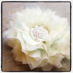 DIY Tutorial: Flower Crafts / DIY Chiffon  Tulle No Sew Flower - BeadCord
