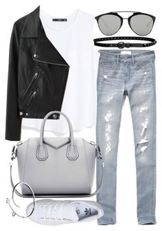 """""""Untitled #19532"""" by florencia95 ❤ liked on Polyvore featuring moda, Abercrombie & Fitch, Linea Pelle, MANGO, Acne Studios, Givenchy, adidas, Cartier, Christian Dior y women's clothing"""