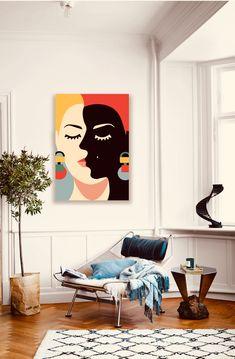 Simple Canvas Paintings, Small Canvas Art, Mini Canvas Art, Modern Art Paintings, Acrylic Painting Canvas, Tableau Pop Art, Abstract Face Art, Outline Art, Minimalist Art