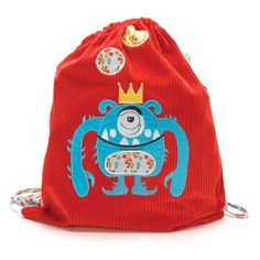 Kid gifts online - Cocoon Couture King Curtis Backpack - $32.95 - Uber cool, hip and super fun with just the right dash of SPOOKY!!  Enter Monster Couture King Curtis Backpack!  King Curtis is a delightful multi-purpose bag that's perfect for kinder, day care, swimming lessons and travel! Kid gifts online - Cocoon Couture #Christmas