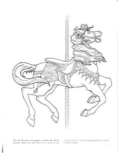 Carousel Animals Coloring Book (Dover Coloring Books