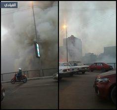 فيديو: حريق ضخم في القاهرة يلتهم 16 سيارة @alqiyady
