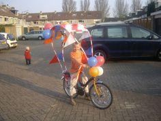 fietsen versieren (pvc-pijp)