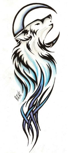Tribal Wolf Tattoo Designs | Tribal Wolf Tattoos , Nice Tribal Wolf Tattoos Image Gallery