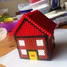 3D House hama beads by 3kidsandagluestick