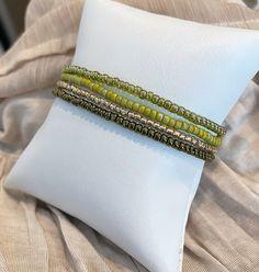 Moss Green Individual Beaded Bracelet Set Stretch Bracelets | Etsy Stack Bracelets, Stretch Bracelets, Beaded Bracelets, Bracelet Set, Green, Etsy, Bangle Set, Stacking Bracelets, Pearl Bracelets