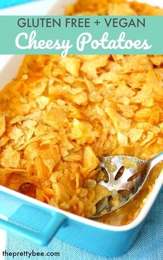 This is a taste of nostalgia! Try the cheesy potatoes you remember from childhood, but without the allergens! This comforting recipe is gluten free and dairy free. Gluten Free Potluck, Vegan Potluck, Potluck Recipes, Gf Recipes, Dairy Free Recipes, Vegan Gluten Free, Skillet Recipes, Pizza Recipes, Easter Recipes