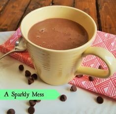 Hot Chocolate Hot Smoothie healthy way to get the through that craving 3 pts makes 2