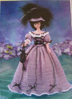 Crochet Pattern Barbie Fashion Doll Historical Costume 1800