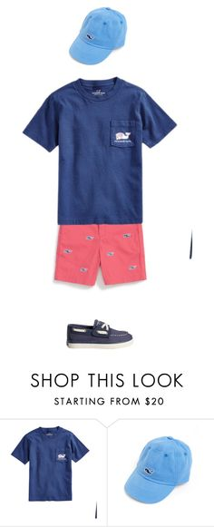 """PREPPY BOYS OUTFIT [VINEYARD VINES x SPERRY BOAT SHOES]"" by stylesbyjoi ❤ liked on Polyvore featuring Vineyard Vines, Sperry, men's fashion and menswear"