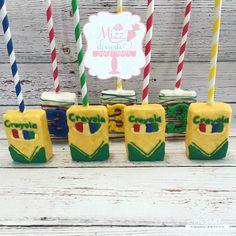 Crayon Rice Krispie Treats Crayon Party