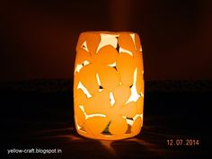 DIY Plastic Bottle - Lamp Shade ~ Yellow Craft