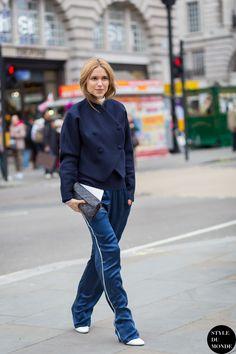 London Fashion Week FW 2015 Street Style: Pernille Teisbaek - STYLE DU MONDE | Street Style Street Fashion Photos