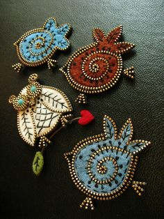 A few new birds... by woolly  fabulous, via Flickr - these are incredibly cute and so inventive.  Love them.
