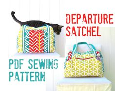 Departure Satchel PDF Sewing Pattern Instant par StudioCherie