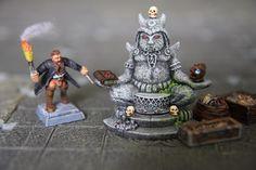 Table dwarven forge, rpg terrain, tresors, idole