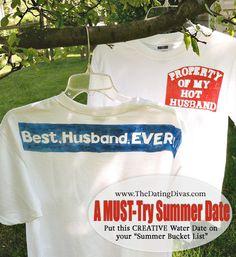 "{SOAK Up The Sun} A super creative activity for the HOT summer!  A ""must"" for your summer bucket list!  www.thedatingdivas.com #summer #summerfun #watergames"