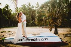 "That ""just married standing on top of the world"" (boat) feeling!!   #FlorenceFern your  #puntacanaweddingphotographer. {d  d} #rockthedress #trashthedress #puntacanaweddings @Danie_14#DaniandDerekWedding"