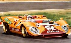 1968 Ferrari, John Love, Paul Hawkins in the Rand Daily Mail nine hour race, Kyalami