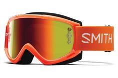 Smith - Fuel V.1 Max M Orange MTB Goggles, Red Mirror Lenses