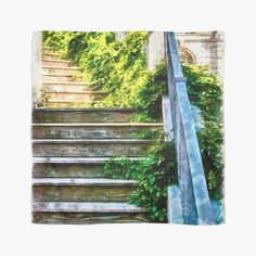 'Urban Collection - Climbing Staircase in Town.' Scarf by
