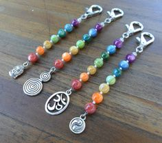 Energy Charged Rainbow River Shell Spiritual Symbol Charm Keychains by Spiritual Turtle on Etsy