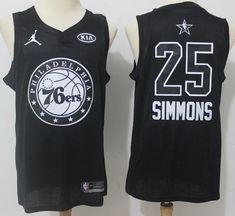6f6fcaab0 Men 2018 All Star 25 Ben Simmons Jersey Black Philadelphia 76ers Jersey