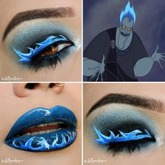 Awesome Makeup Ideas from Disney. Are you a fan of Disney? The magic of Disney extends much further than the sweet movies and enchanting theme parks. Disney Eye Makeup, Disney Inspired Makeup, Eye Makeup Art, Makeup Geek, Eyeshadow Makeup, Disney Villains Makeup, Fun Makeup, Dior Makeup, Fairy Makeup