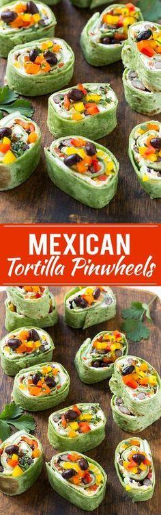Mexican Tortilla Pinwheels Recipe | Mexican Pinwheels | Pinwheel Recipe | Roller Sandwichers