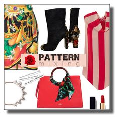 """""""pattern mix"""" by nineseventyseven ❤ liked on Polyvore featuring Dolce&Gabbana, Kate Spade, Juan Carlos Obando, Sole Society, Chanel and patternmixing"""