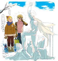 Onepunch-Man, Genos and Saitama