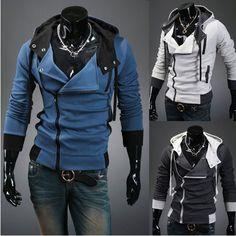 New Assassin's Creed 3  Desmond Miles Hoodie Costume Coat Jacket Cosplay Costume