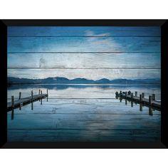 FramedCanvasArt.com Versilia Massaciuccoli Lake' Giclee Wall Decor