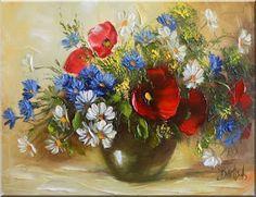 Malarstwo i Fotografia - Ewa Bartosik: Kwiaty Polne Creative Photography, Flower Art, Poppies, Daisy, Drawings, Pictures, Paintings, Inspiration, Classic Paintings