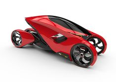 School project of a futuristic high speed racing vehicle