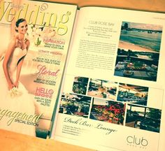 "Club Rose Bay in Wedding Magazine ""Celebrations Supplement"" Deck Bar, Rose Bay, Modern Wedding Flowers, Bar Lounge, Hello Sunshine, Celebrations, Photo Wall, Magazine, Club"