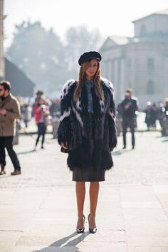 furry fab. #MilanaKoroleva in Milan.
