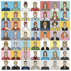 Tribute to a legend, David Bowie, Cartoon Bowie