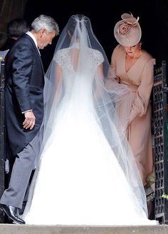 Prince William, Duke of Cambridge and Prince Harry (R) attend the wedding of Pippa Middleton and James Matthews at St Mark's Church on May. Kate Middleton, Pippa Middleton Wedding Dress, Middleton Family, Pippas Wedding, Wedding Of The Year, Grace Kelly, Wedding Dress Pictures, Wedding Dresses, Pippa And James