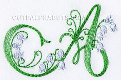 Lily of the valley font. Exclusive